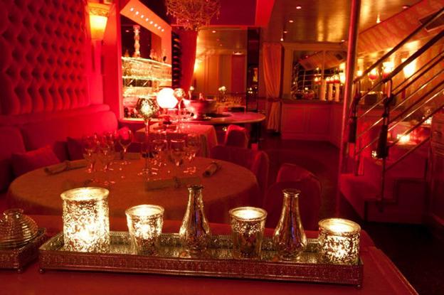 Dining room of Les Chandelles, Paris.